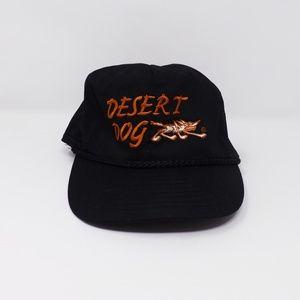 Mens Nissun Black Desert Dog Baseball Cap